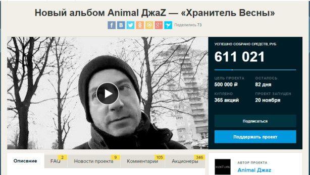 Краудфандинг-Animal-ДжаZ